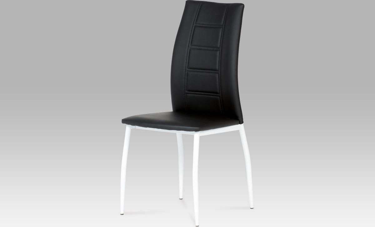 Artium Jídelní židle koženková 44x42x98x46cm Barva: černá