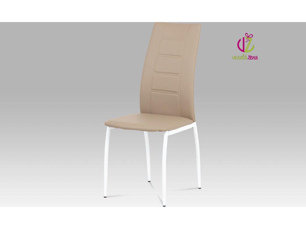 Jídelní židle koženková 43x43x100x47cm Barva: cappuccino