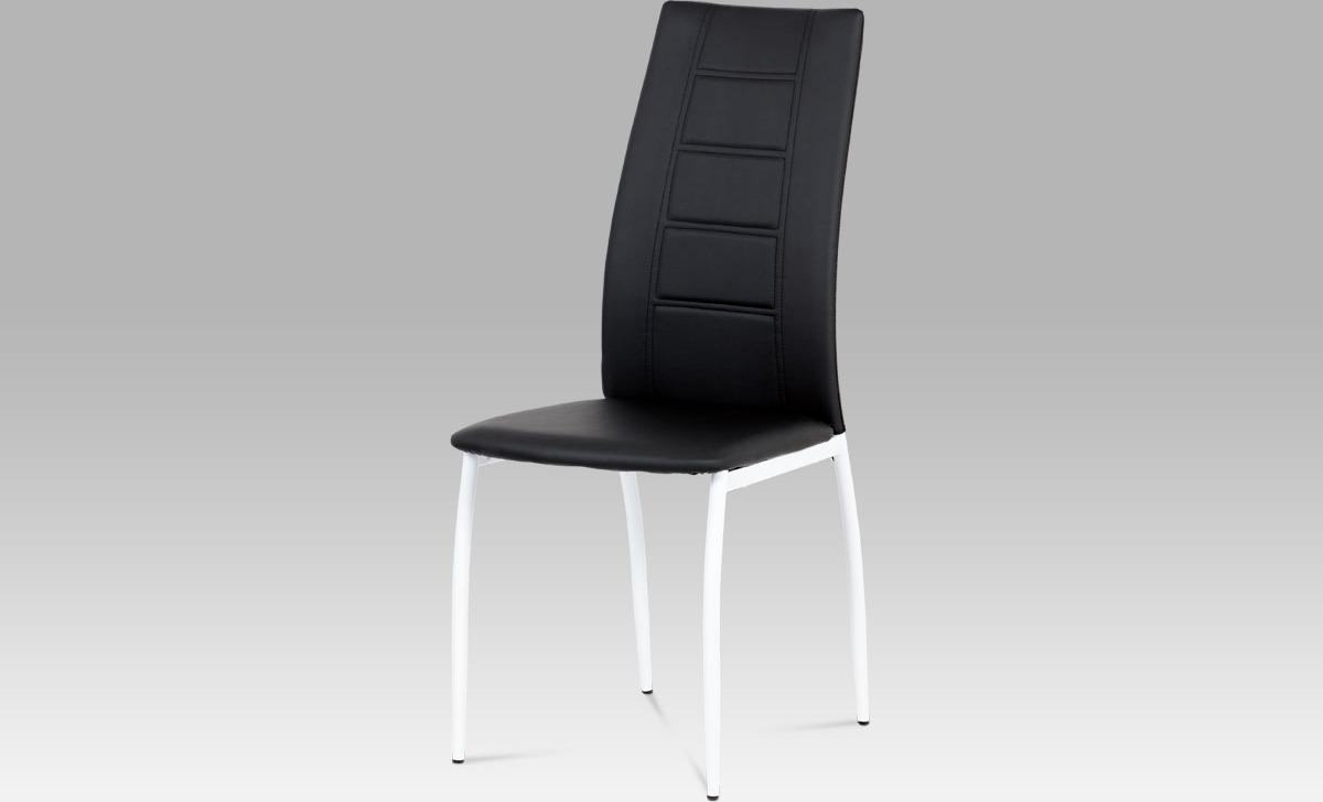 Jídelní židle koženková 43x43x100x47cm Barva: černá