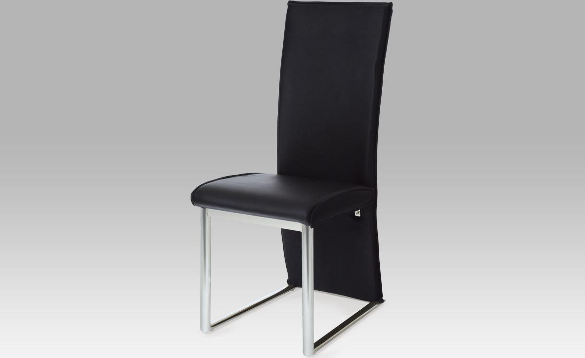 Artium Jídelní židle | koženka | chrom