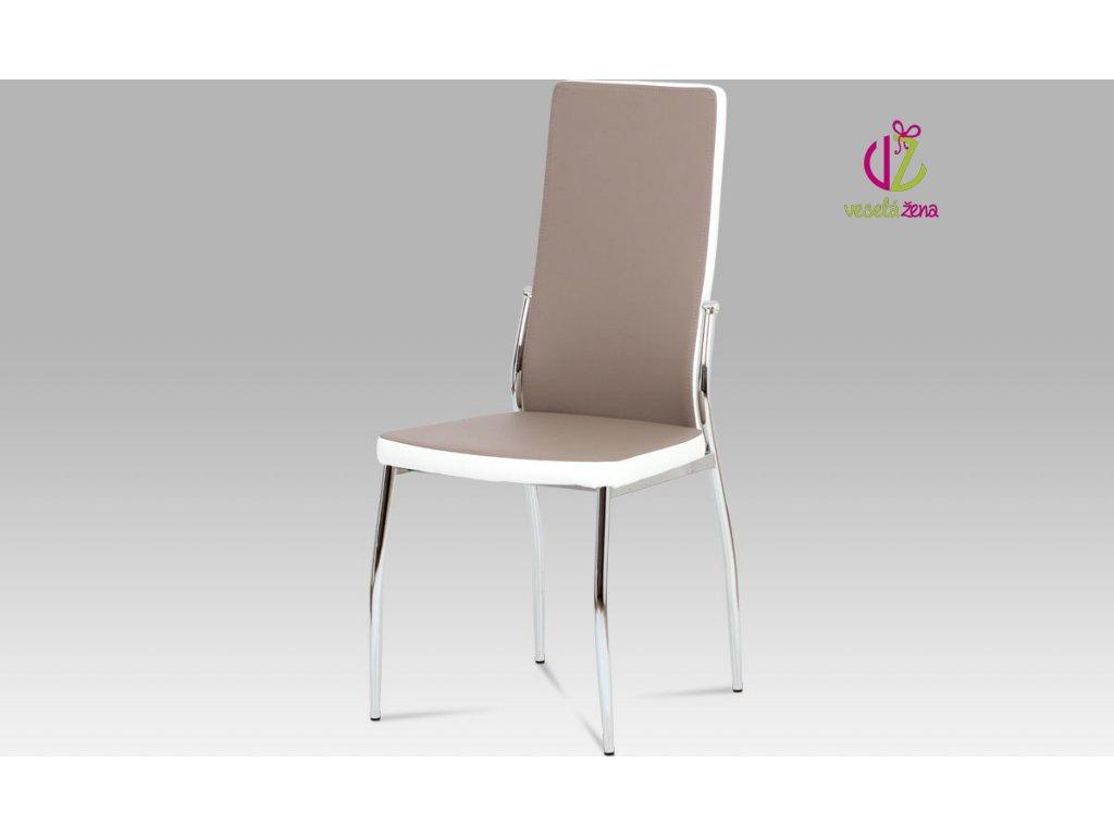 Jídelní židle koženková 45x43x100x46cm Barva: lanýžová