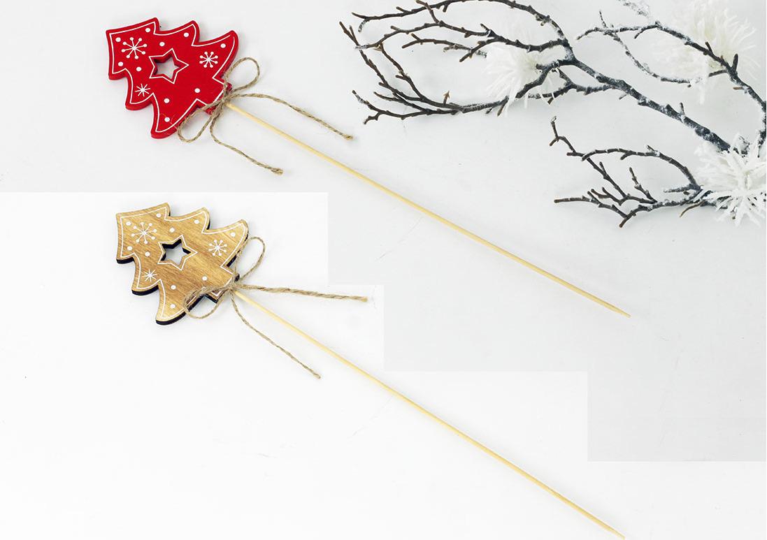 Artium Vánoční dřevěný zápich stromeček