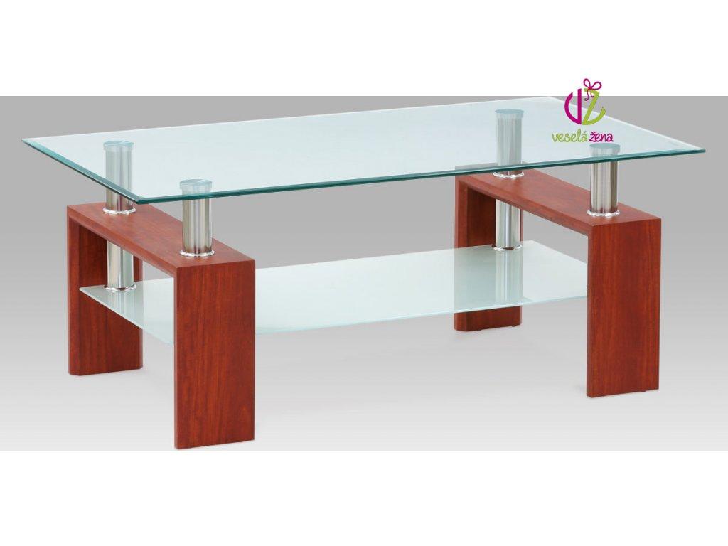 Konferenční stolek skleněný | 110x60x45cm Barva: třešeň