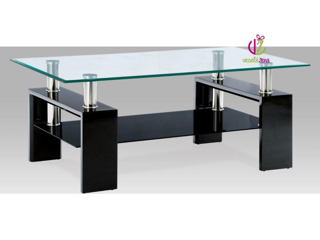 Konferenční stolek skleněný | 110x60x45cm Barva: černá