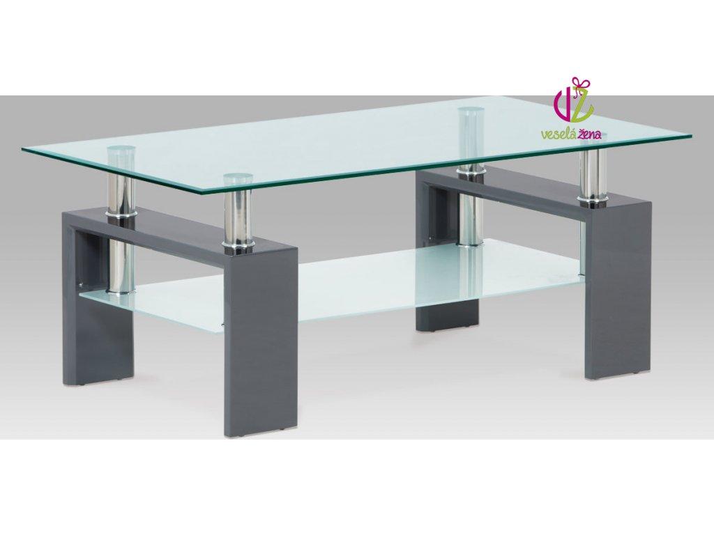 Konferenční stolek skleněný | 110x60x45cm Barva: šedá
