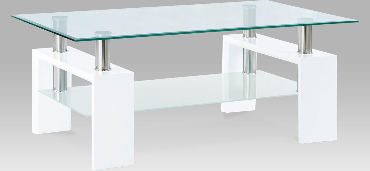 Konferenční stolek skleněný | 110x60x45cm Barva: bílá