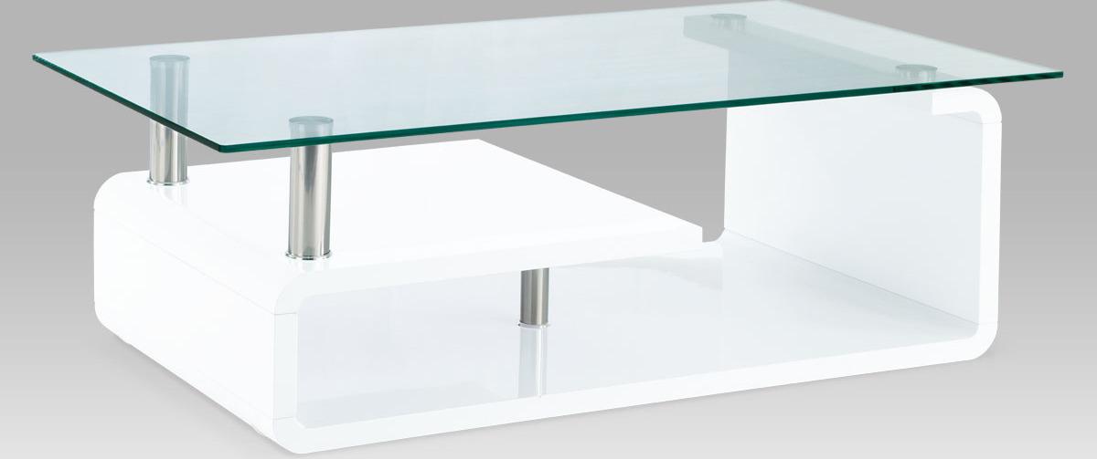 Konferenční stolek bílý | 120x65x40cm