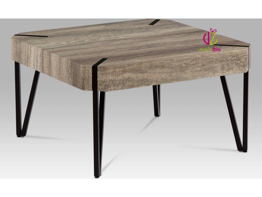 Artium Konferenční stolek | dub Canyon grey | kovová konstrukce Velikost: menší