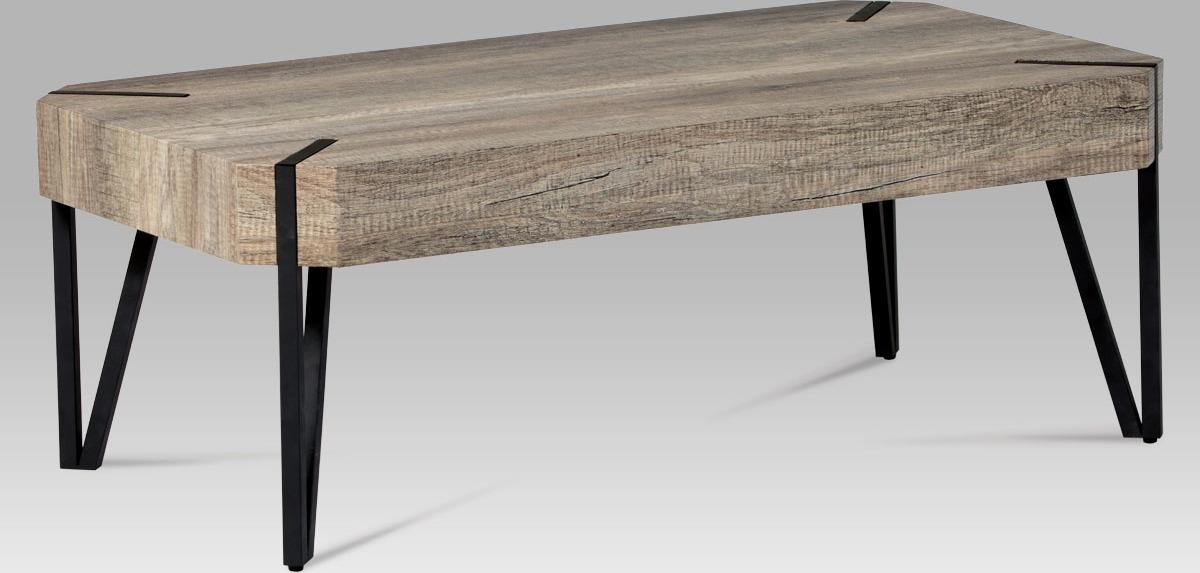 Konferenční stolek | dub Canyon grey | kovová konstrukce Velikost: větší