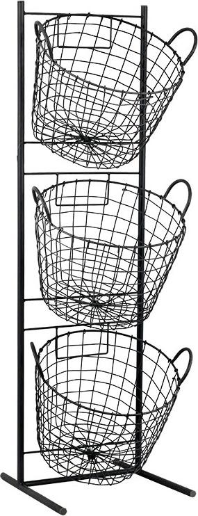 Artium Kovový stojan | 3 koše