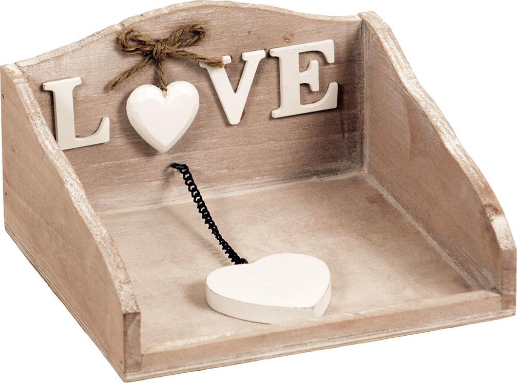 Artium Držák na ubrousky dřevěný - Love