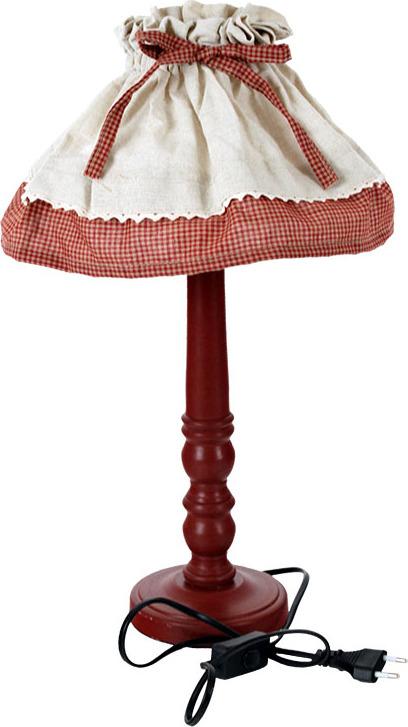 Stolní lampa s červenou nohou