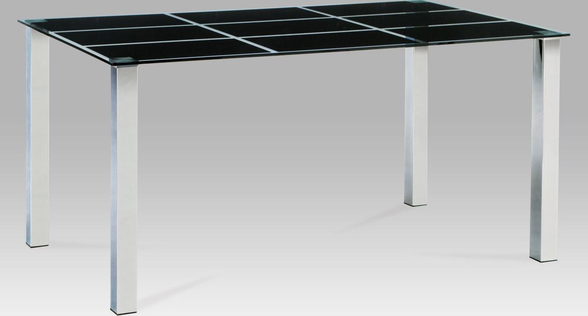 Artium Jídelní stůl skleněný černý 150x90cm
