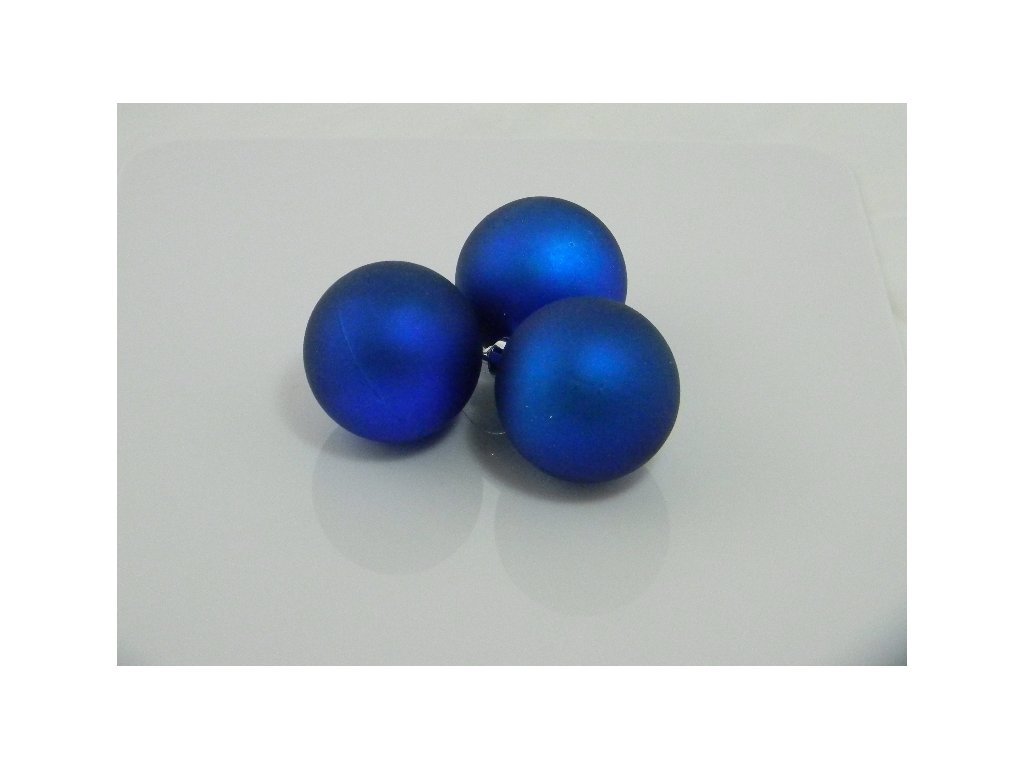 Ozdoba koule 6cm Barva: modrá