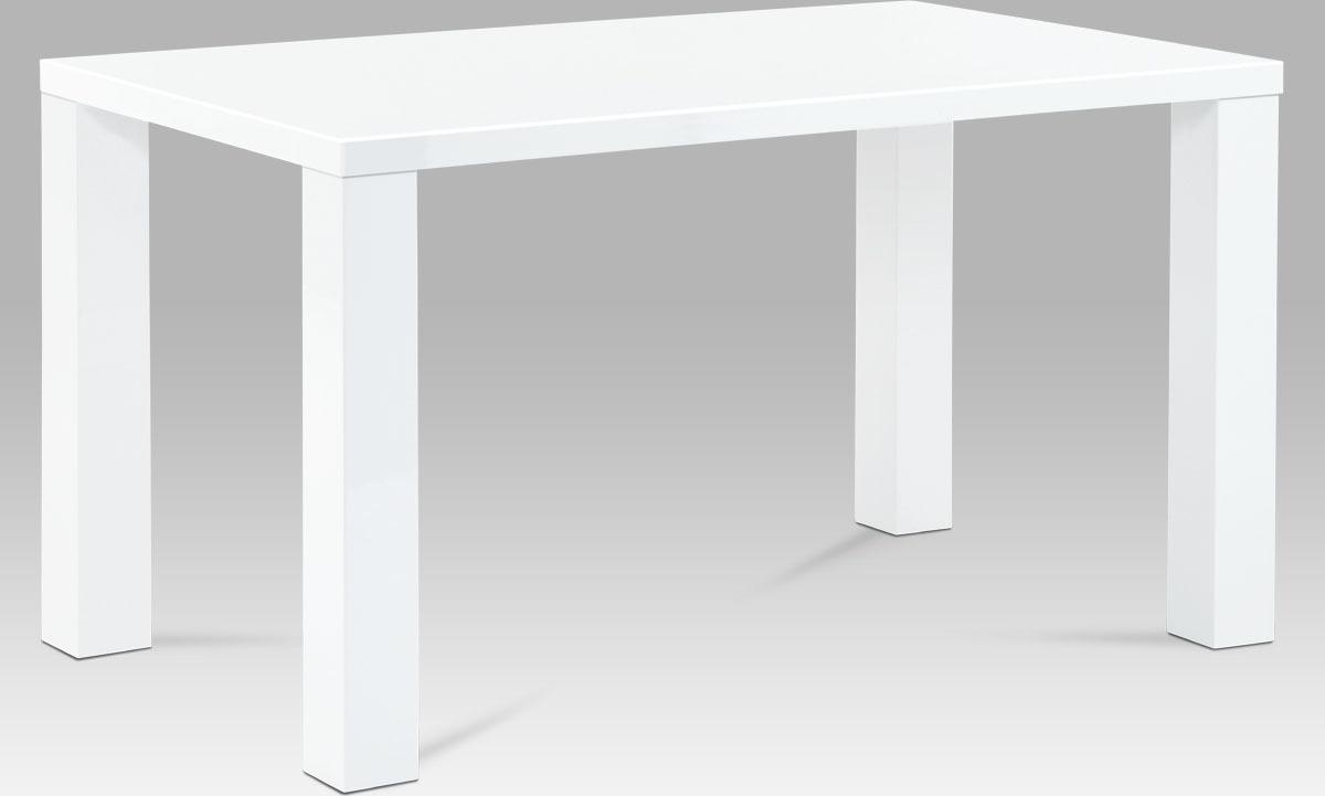 Jídelní stůl bílý lesklý 135x80x76cm