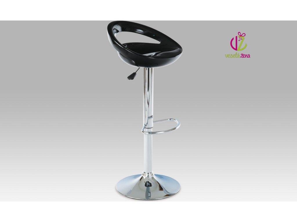 Artium Barová židle plastová 44x35x81cm Barva: černá
