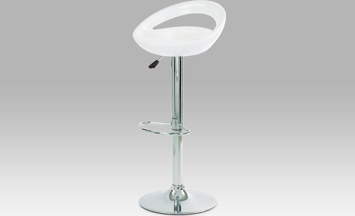 Artium Barová židle plastová 44x35x81cm Barva: bílá