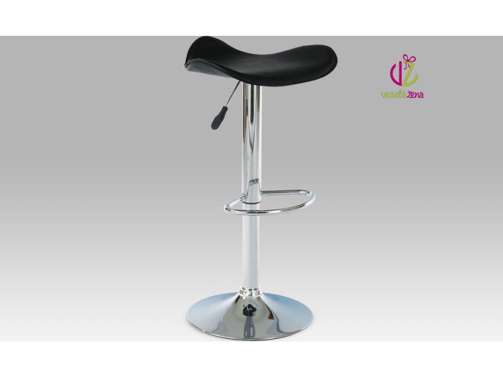 Barová židle koženková 45x43x76cm Barva: černá