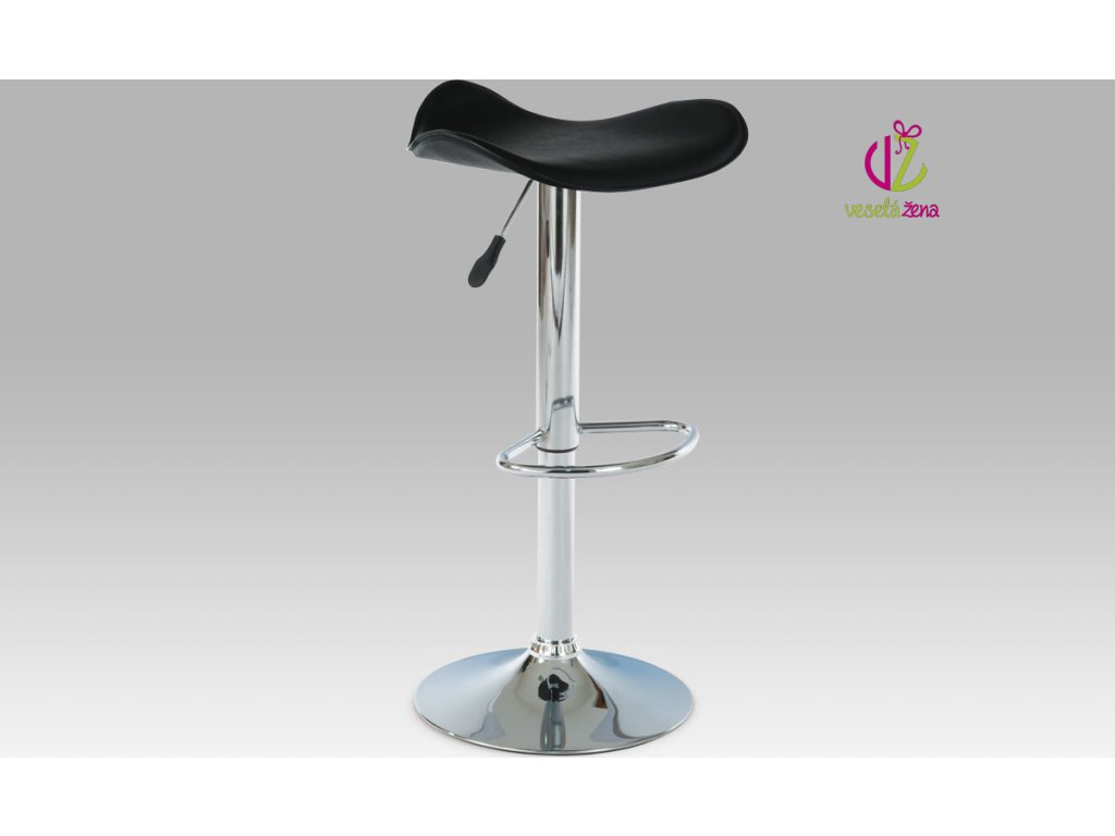 Artium Barová židle koženková 45x43x76cm Barva: černá