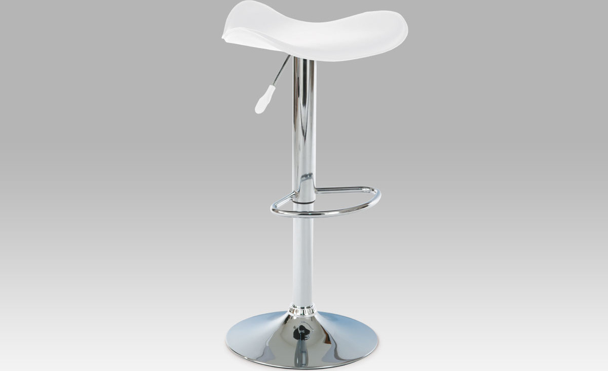 Artium Barová židle koženková 45x43x76cm Barva: bílá