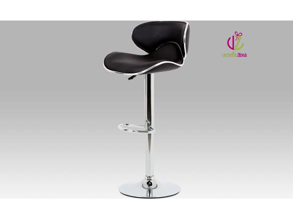 Barová židle koženková 46x48x103x80cm Barva: černá