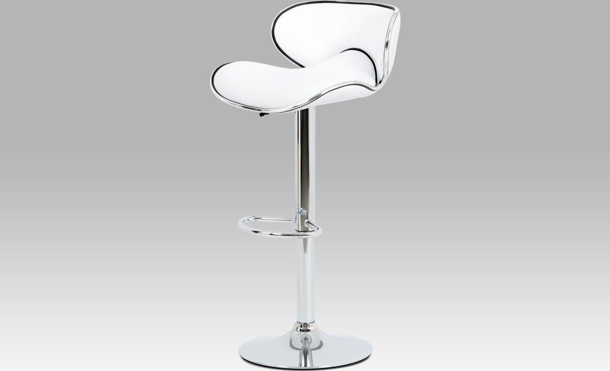 Barová židle koženková 46x48x103x80cm Barva: bílá