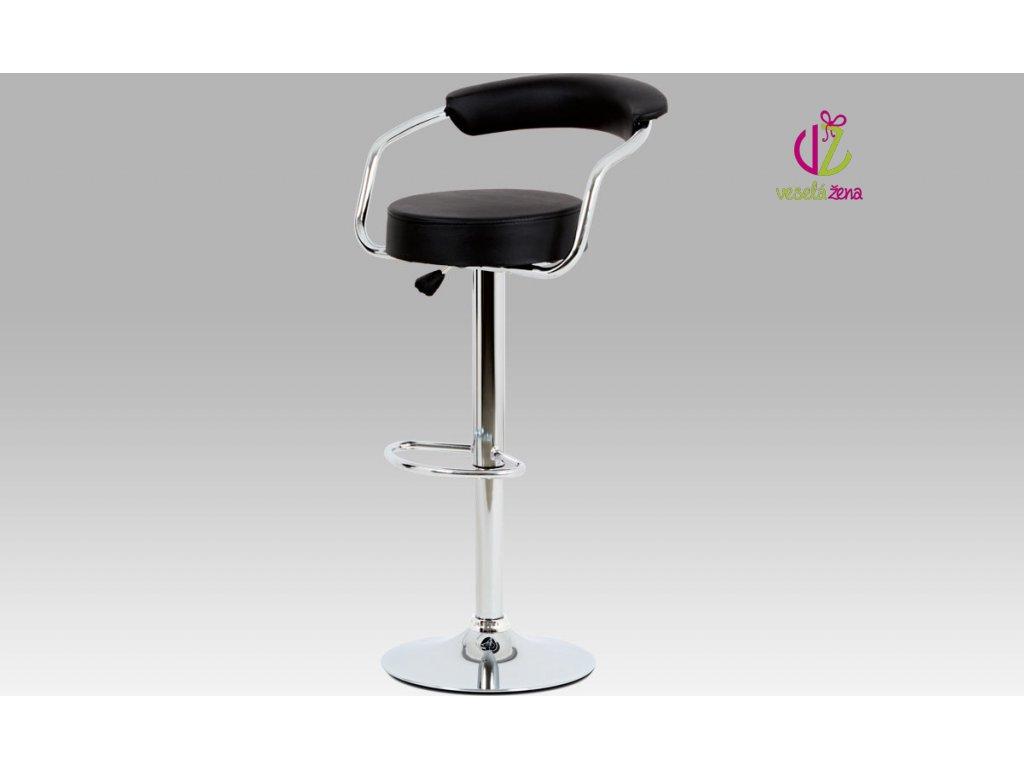 Barová židle koženková 52x50x103x83cm Barva: černá