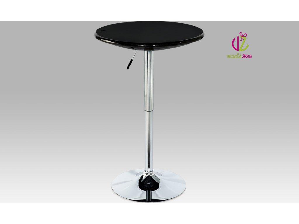 Barový stůl chrom 94x61x61cm Barva: černá