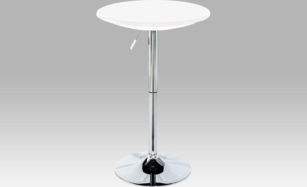 Barový stůl chrom 94x61x61cm Barva: bílá