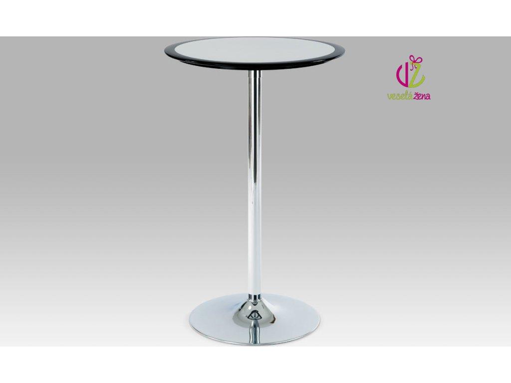 Barový stůl plastový 105x60x60cm Barva: černá