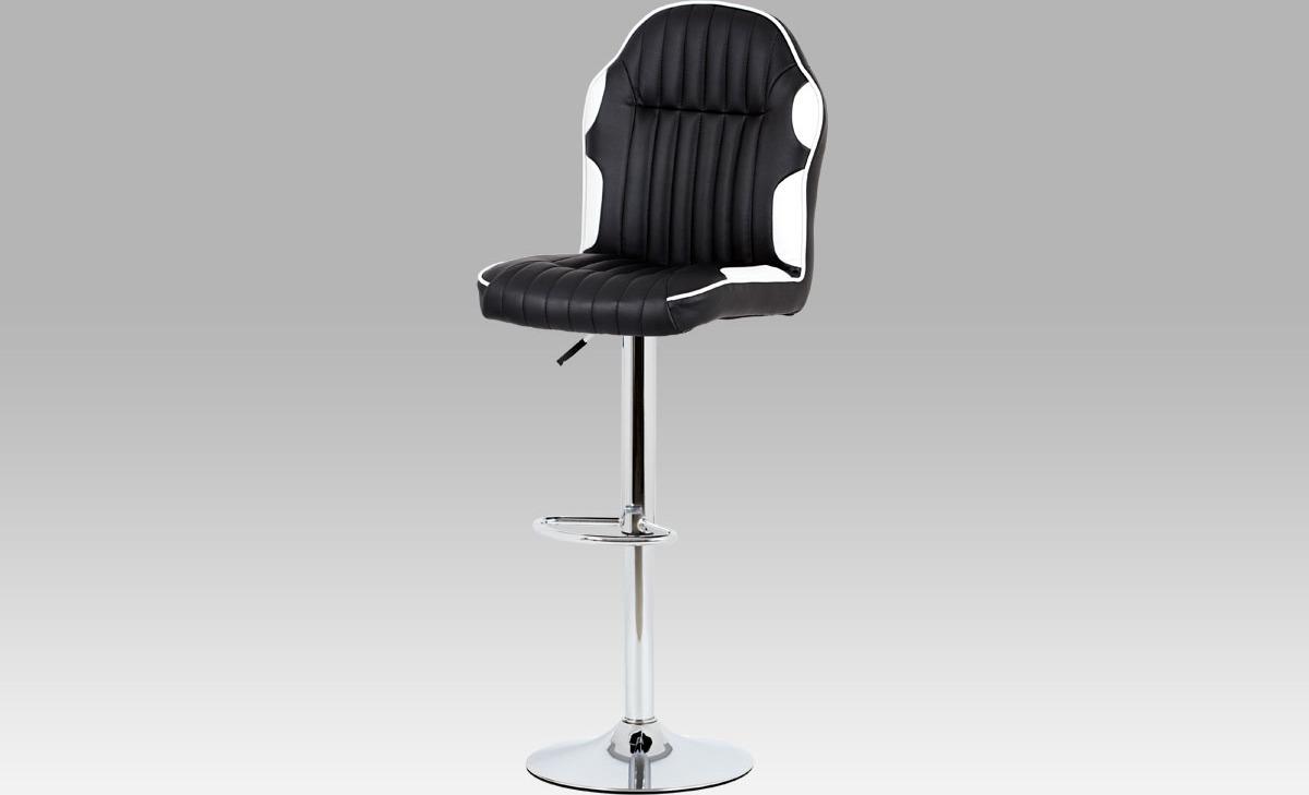 Barová židle koženková 44x38x127x85cm Barva: bílá