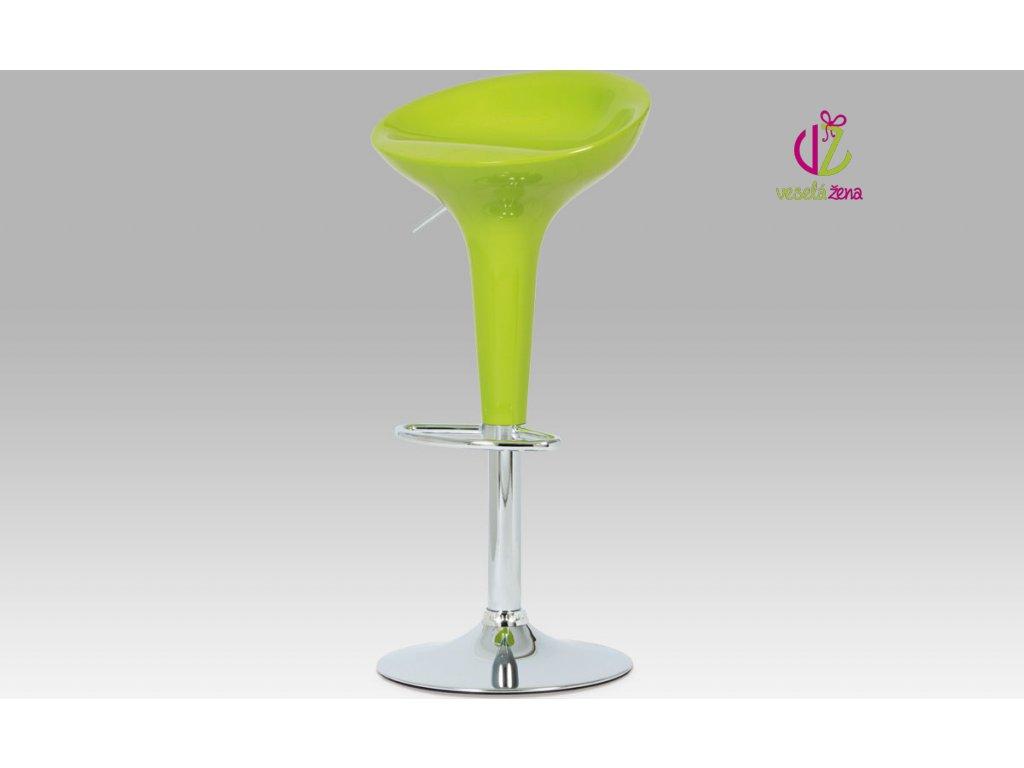 Artium Barová židle plastová 39x45x80cm Barva: zelená