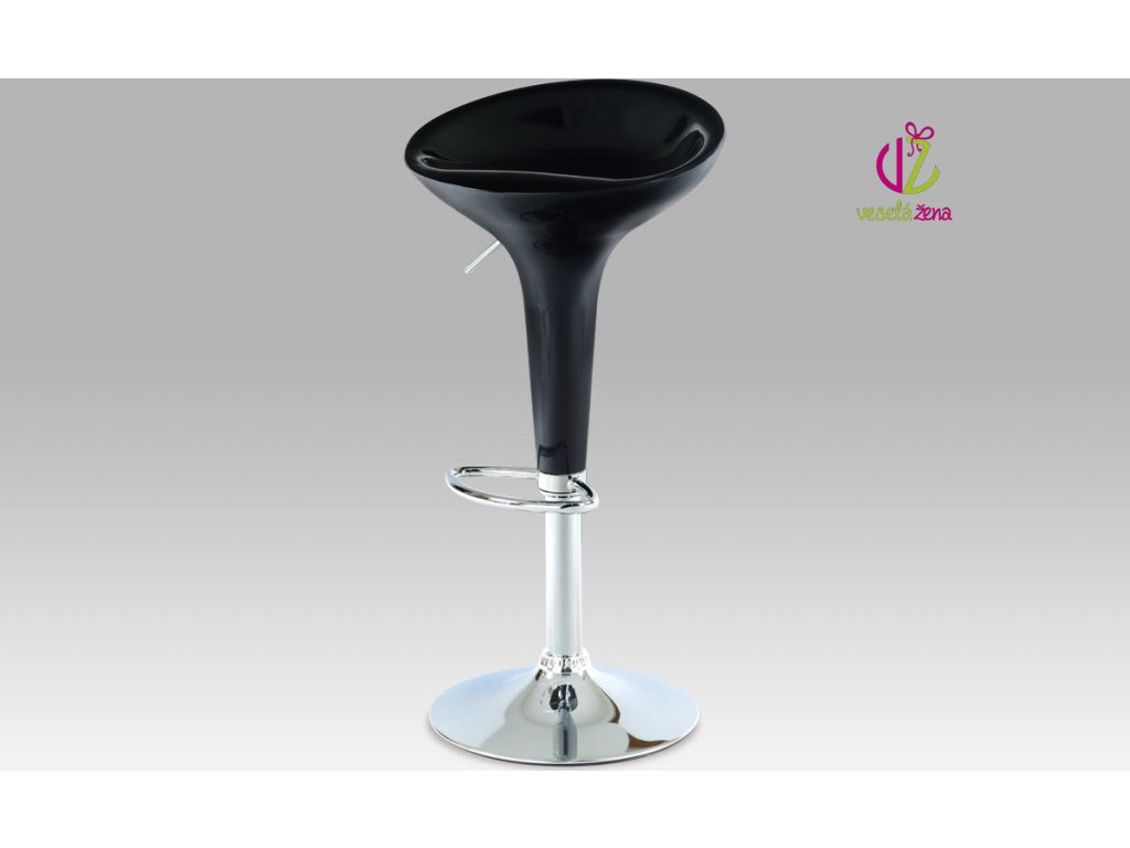 Barová židle plastová 39x45x80cm Barva: černá
