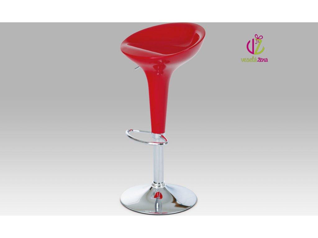 Barová židle plastová 39x45x80cm Barva: červená