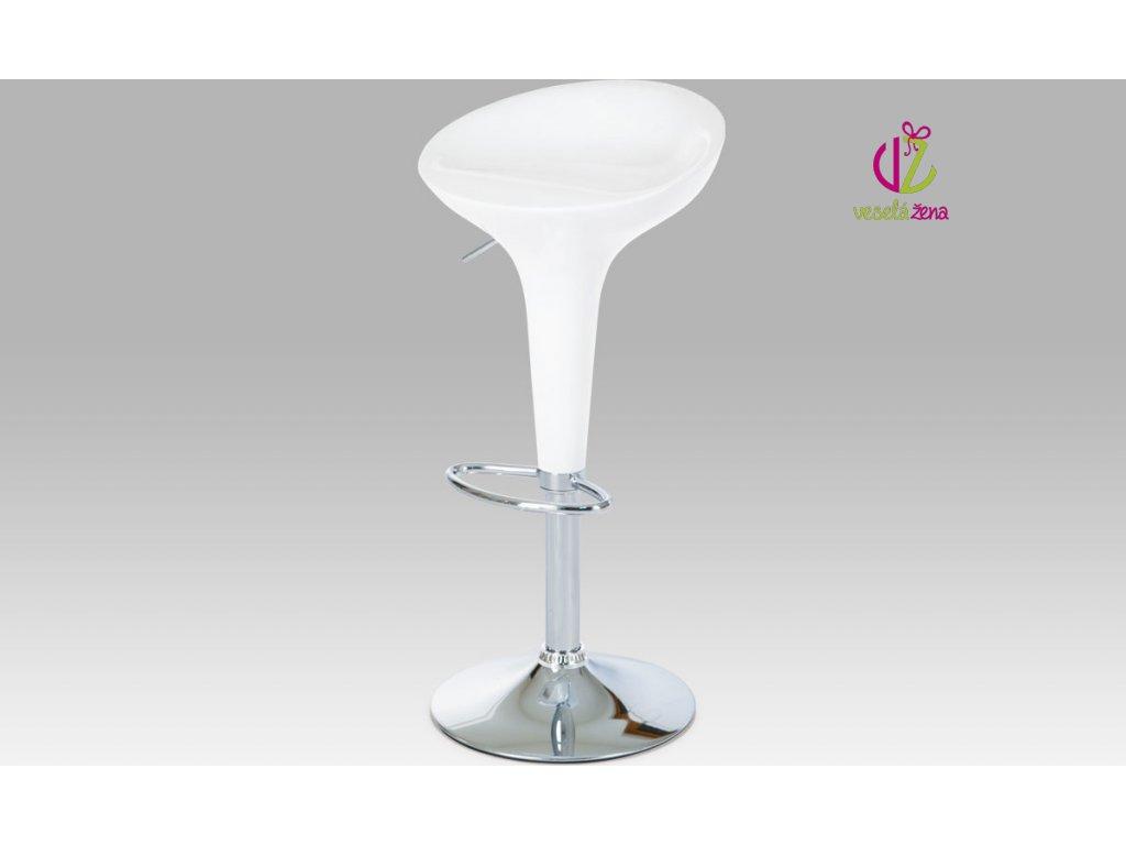 Barová židle plastová 39x45x80cm Barva: bílá