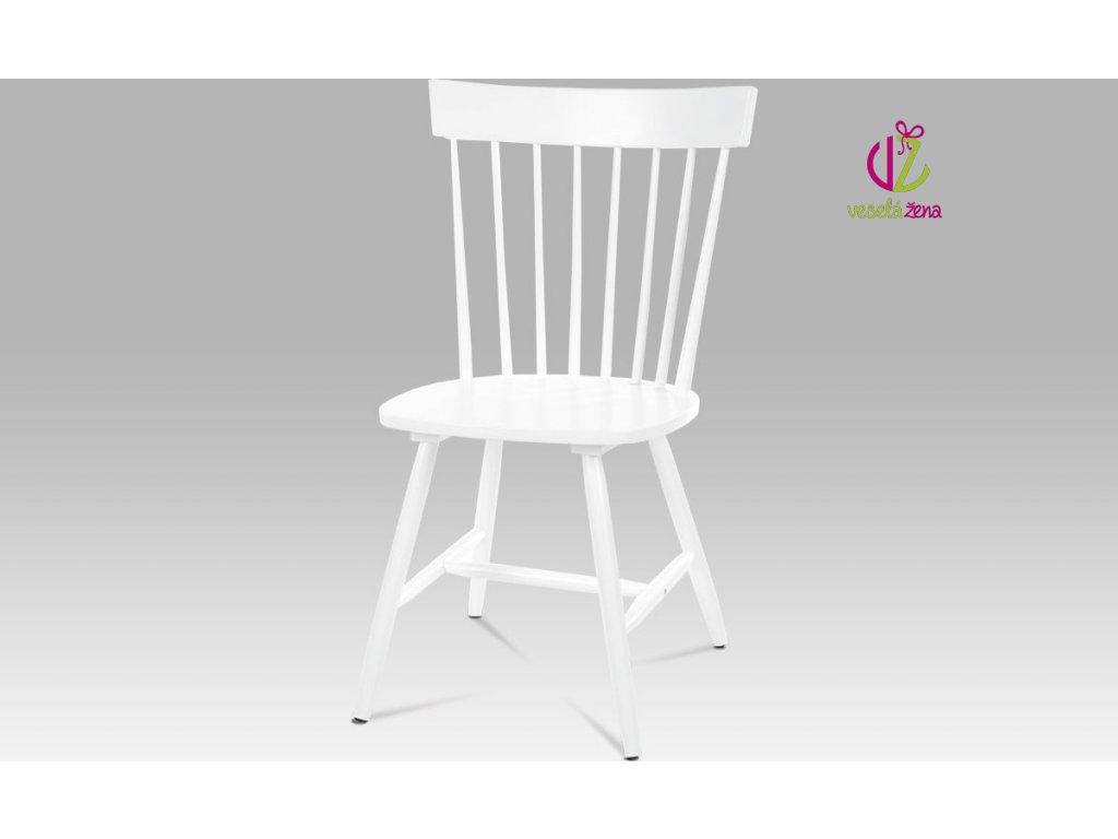 Artium Jídelní židle bílá celodřevěná Provedení: B