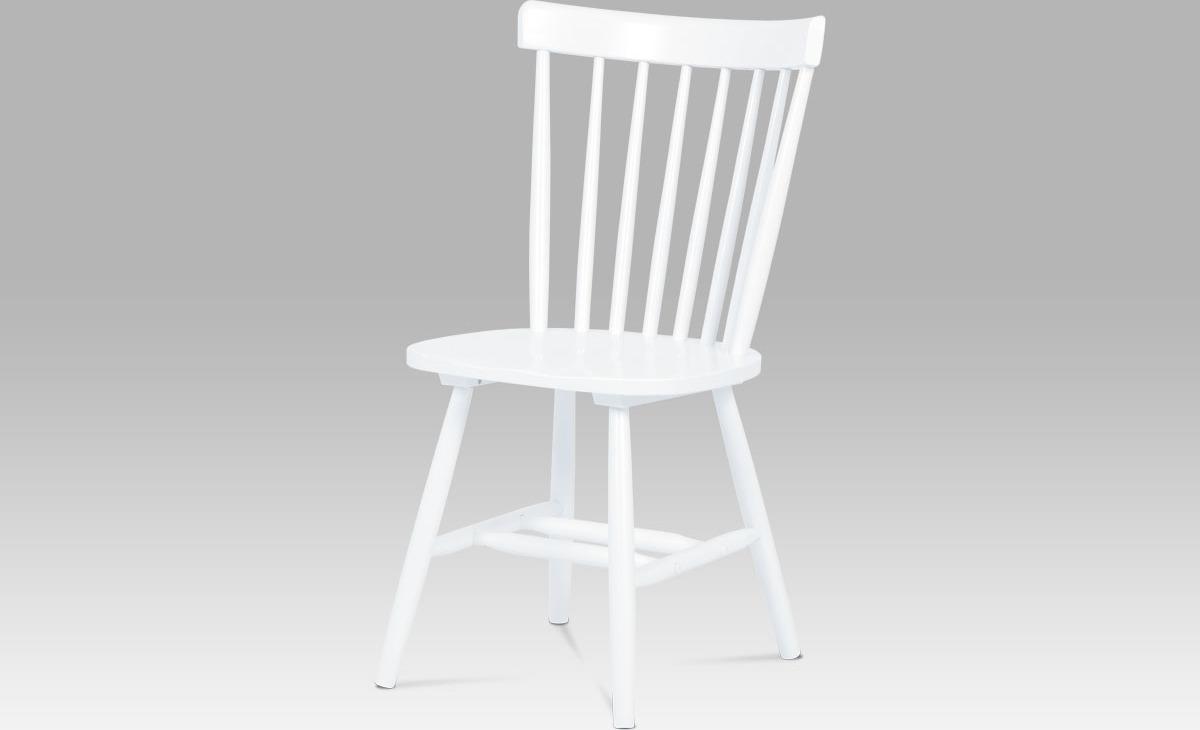 Artium Jídelní židle bílá celodřevěná Provedení: A