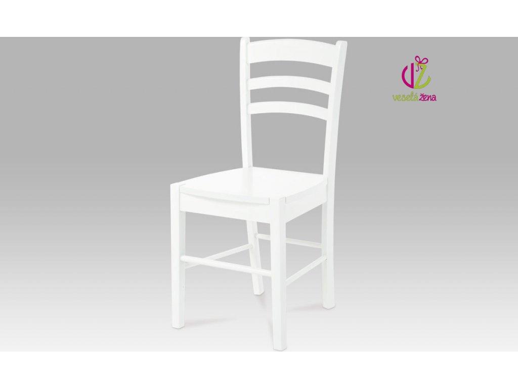 Artium Jídelní židle dřevěná 40x38x85x45cm Barva: bílá