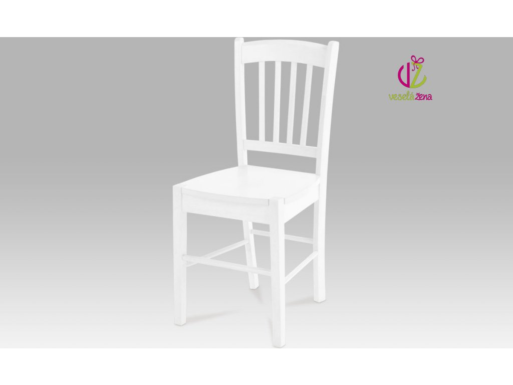 Artium Jídelní židle dřevěná 40x36x85x45cm Barva: bílá