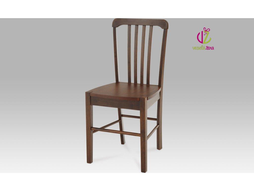 Artium Jídelní židle dřevěná 40x35x86x45cm Barva: ořech