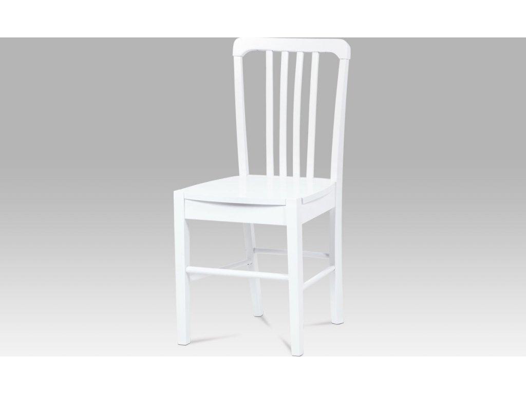 Artium Jídelní židle dřevěná 40x35x86x45cm Barva: bílá