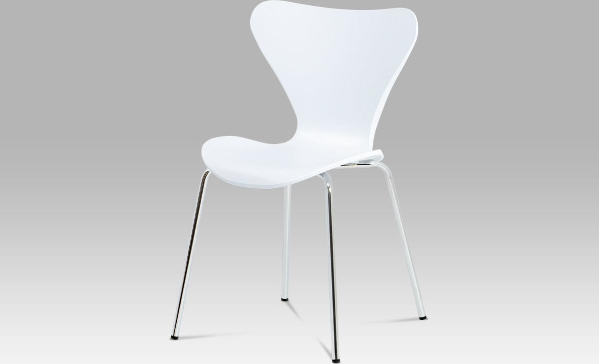 Autronic Jídelní židle plastová bílá 46x38x81x48cm AUAURORA WT