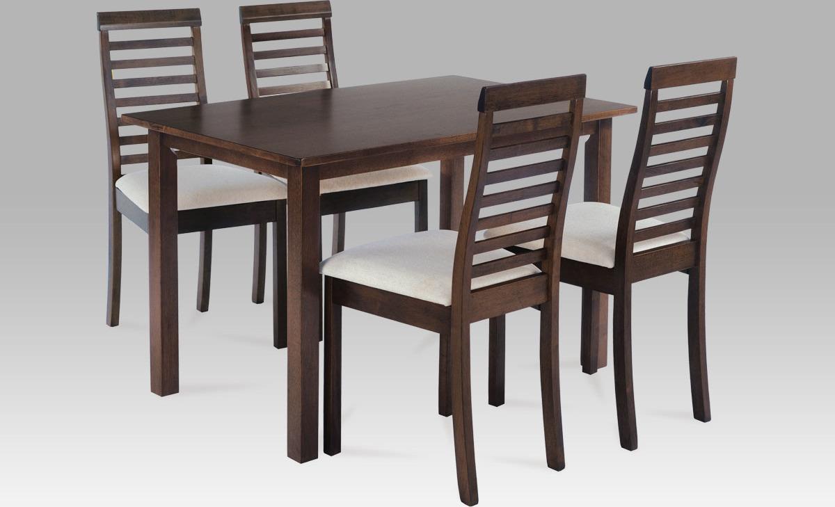 Jídelní set - stůl a 4ks židle Barva: ořech