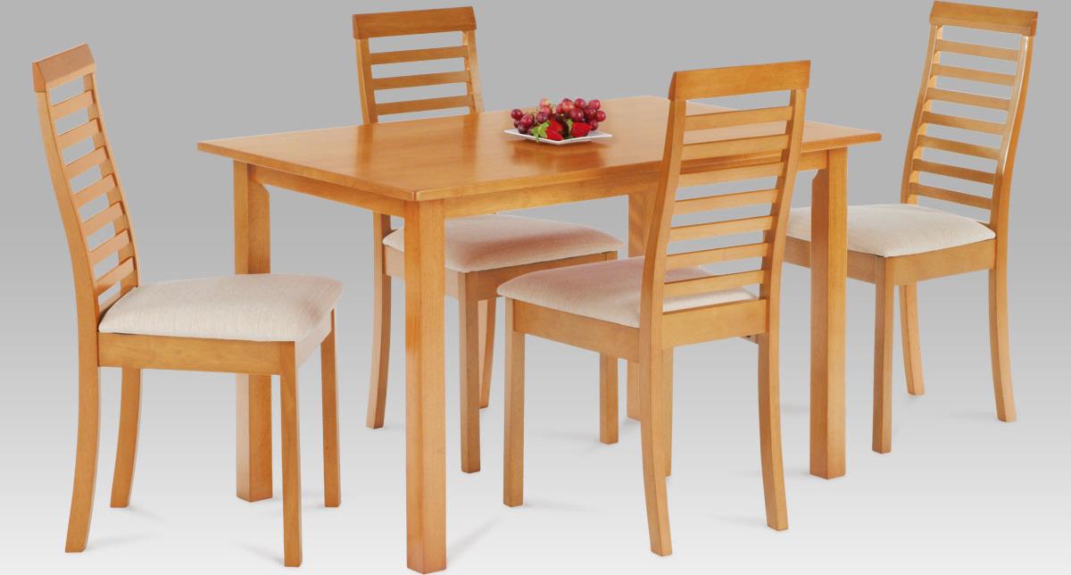 Jídelní set - stůl a 4ks židle Barva: olše