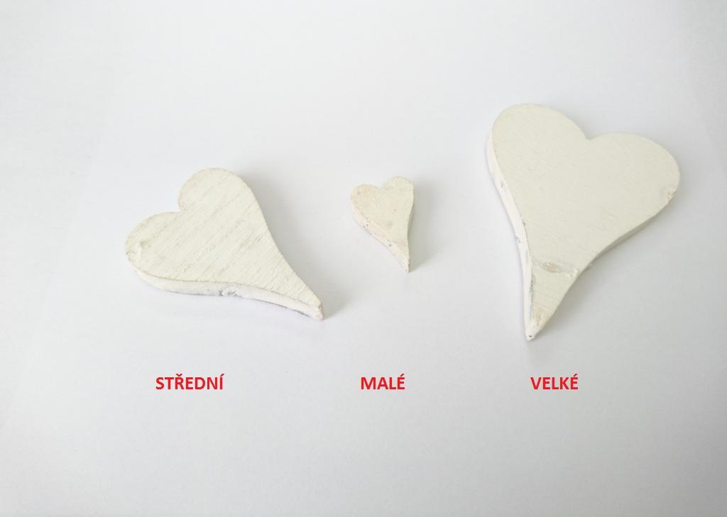 Dekorace srdce štíhlé Velikost: malé