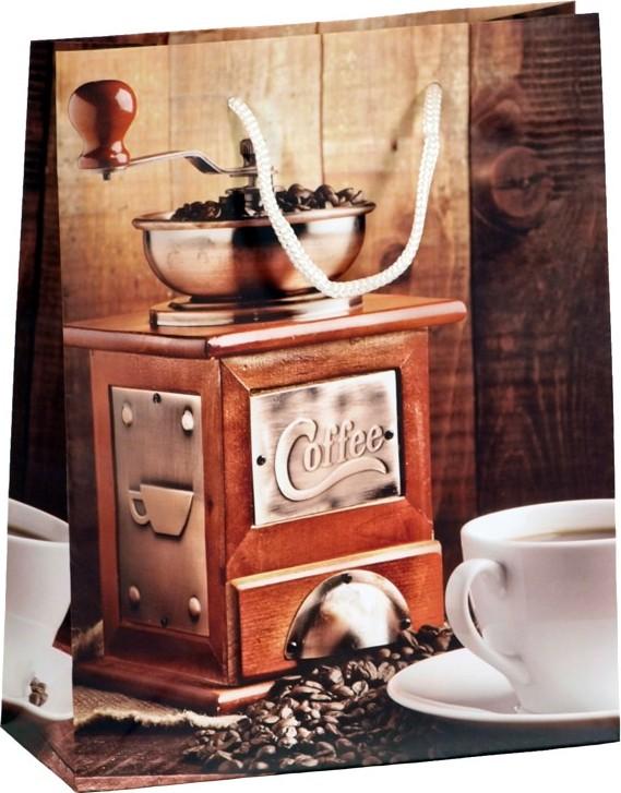 Dárková papírová taška COFFEE MLÝNEK Velikost: velká