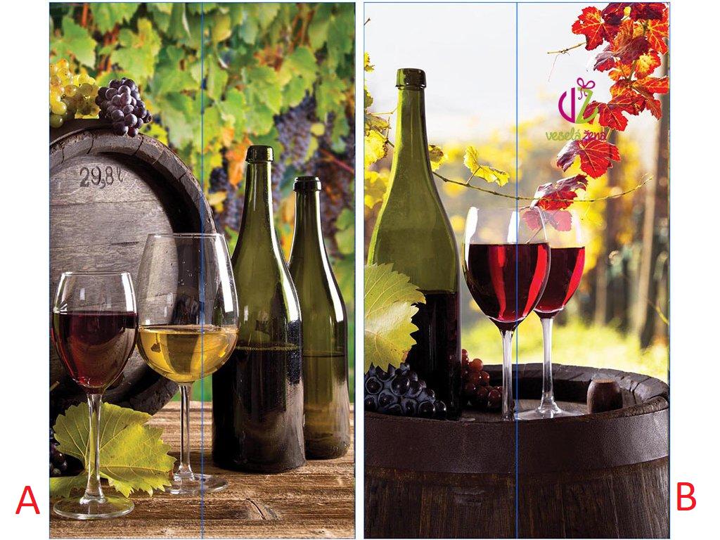 Papírová taška na víno 10x10x35cm Provedení: B