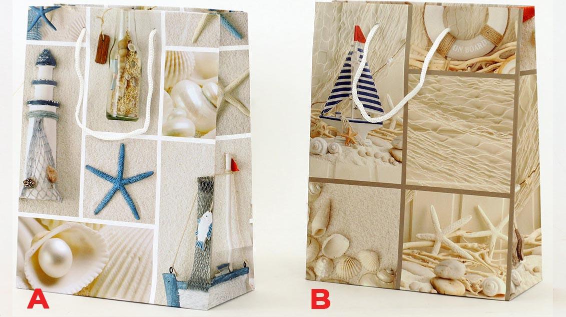 Artium Papírová taška   moře   střední Provedení: A