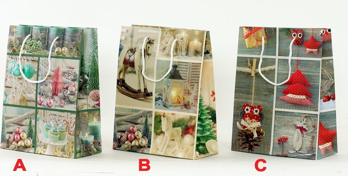 Artium Papírová taška střední   vánoční motiv Provedení: A