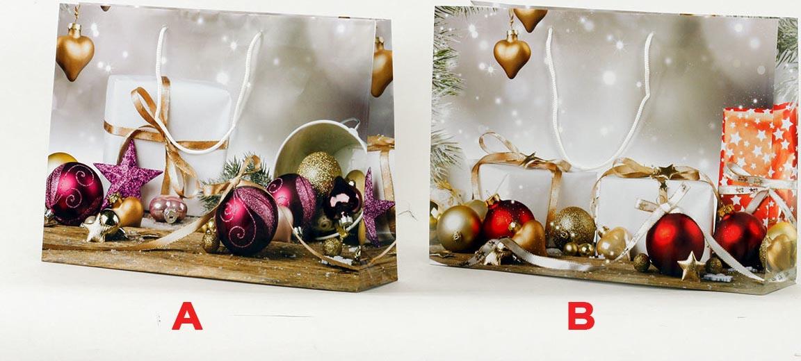 Artium Papírová taška XL   ležatá   vánoční motiv Provedení: A